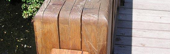 Brettschichtenholz im Freien